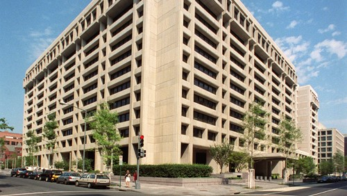 headquarter of Internationnal Monetary Fund in Washington DC